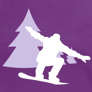 snowboarder trees T-Shirts - Women's Ringer T-Shirt