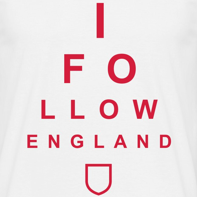 I Follow England - Eye Test (Red)