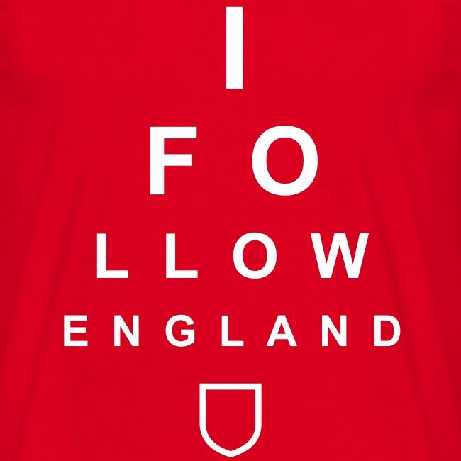 I Follow England - Eye Test (White)