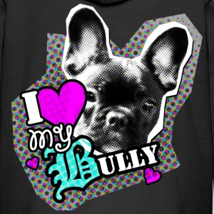 Bully - French Bulldog - Love Kids' Tops - Kids' Premium Zip Hoodie