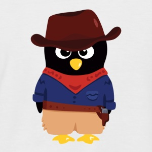 Pingouin Cowboy T-Shirts - Men's Baseball T-Shirt