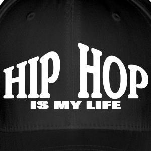 hip hop is my life Kasketter & Huer - Flexfit baseballcap