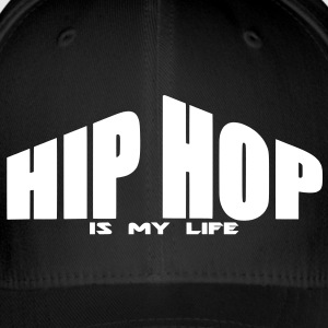 hip hop is my life Caps & Mützen - Flexfit Baseballkappe