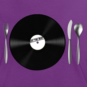 Eat the Beat Vinyl Schalplatte Besteck Messer und  - Frauen Kontrast-T-Shirt