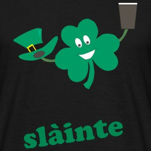 slàinte - St Patricks day black men's t-shirt - Men's T-Shirt
