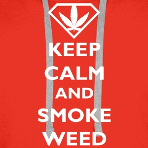 Keep Calm and Smoke Weed Pullover - Männer Premium Hoodie