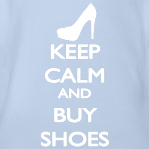 Keep Calm and buy Shoes Baby Body - Body orgánico de maga corta para bebé