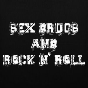 sex drugs and rock n' roll Tassen - Tas van stof