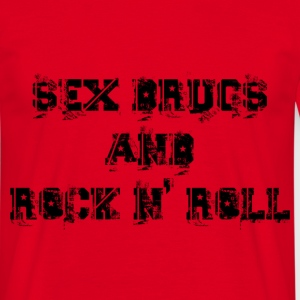 sex drugs and rock n' roll Camisetas - Camiseta hombre