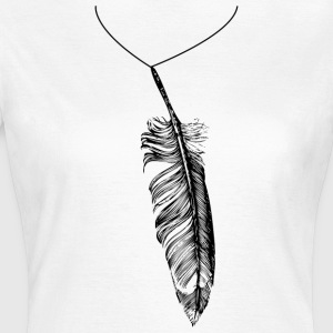 Feather necklace Tee shirts - T-shirt Femme