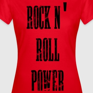 rock n' roll power Camisetas - Camiseta mujer