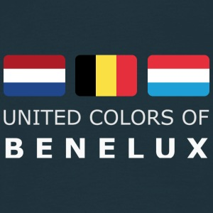 Classic T-Shirt UNITED COLORS OF BENELUX white-lettered - T-shirt Homme