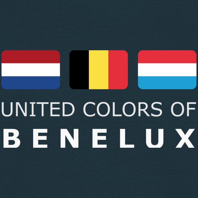 Classic T-Shirt UNITED COLORS OF BENELUX white-lettered