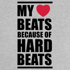 My heart beats because of hard beats  Baby T-shirts