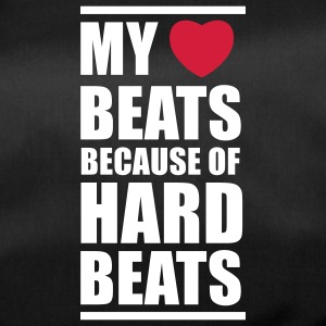 My heart beats because of hard beats  Bags  - Duffel Bag