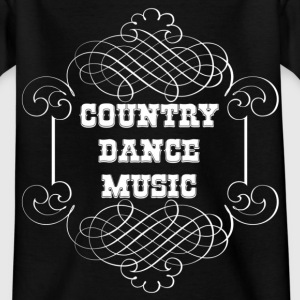 country dance music T-Shirts - Kinder T-Shirt