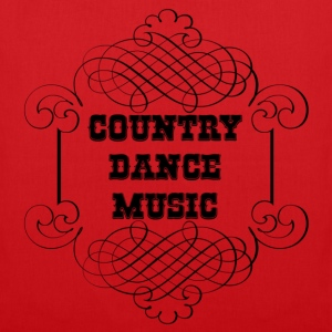 country dance music Tassen - Tas van stof