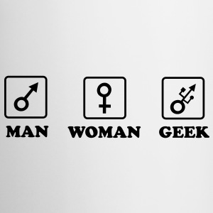 Man - Woman - Geek Tasses - Tasse