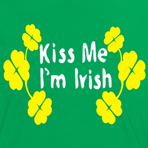 Kiss Me I'm Irish shamrock st.patrick's day  Women's  Contrast T-shirt   - Women's Ringer T-Shirt