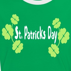 shamrock st.patrick's day  Women's  Contrast T-shirt