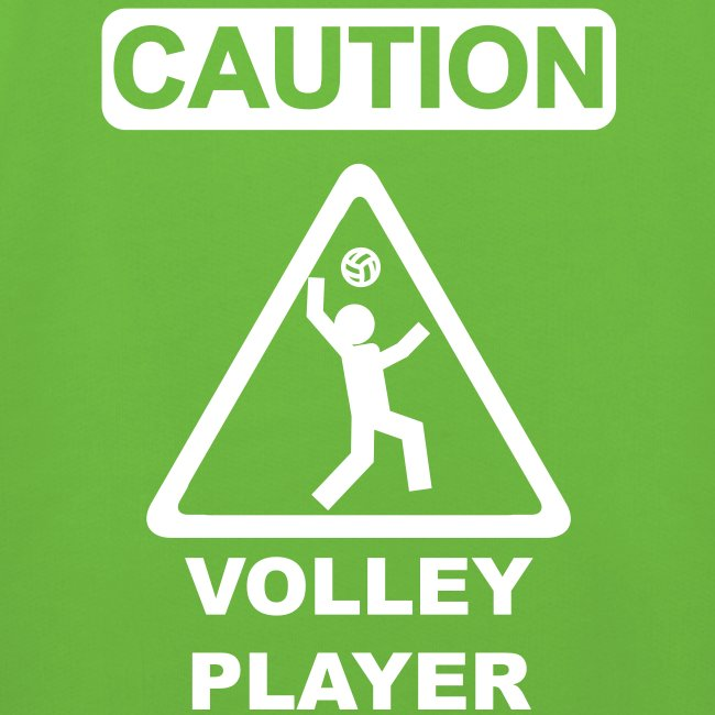 Caution Volleyplayer