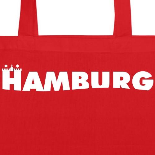 Schriftzug Hamburg mit Wappentürmen