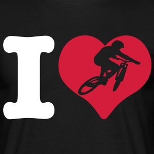 i love mtb - T-skjorte for menn