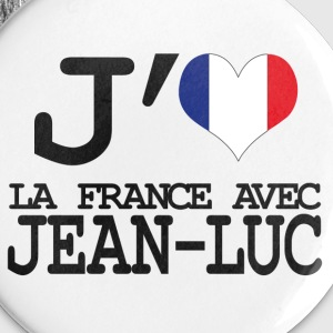 j'aime la France avec Jean Luc Badges - Badge moyen 32 mm