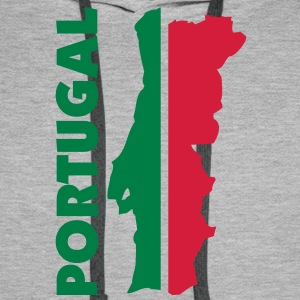 portugal_umriss_flagge_50 Sweaters - Mannen Premium hoodie