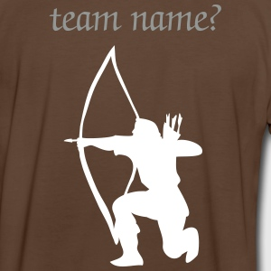 Longbow Archer kneeling stance T-Shirts - Men's Ringer Shirt