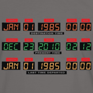 Back To The Future I Time Travel Date Console - Men's Ringer Shirt