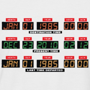 Back To The Future I Time Travel Date Console - Men's Baseball T-Shirt