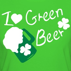 I heart Green Beer  shamrock st.patrick's day Women's Slim Fit Earth Positive T-Shirt - Women's Organic T-shirt