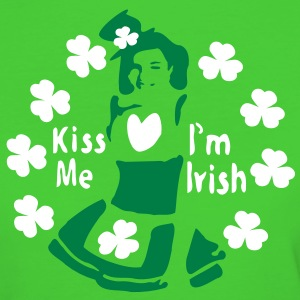Kiss Me I'm Irish shamrock st.patrick's day Women's Slim Fit Earth Positive T-Shirt - Women's Organic T-shirt