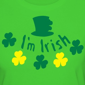 I'm Irish shamrock st.patrick's day Women's Slim Fit Earth Positive T-Shirt - Women's Organic T-shirt