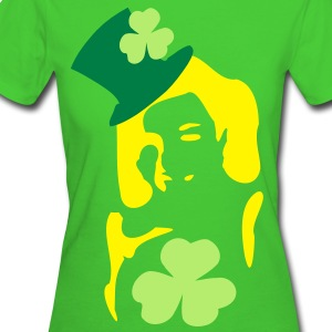 Irish girl shamrock  hat st.patrick's day Women's Slim Fit Earth Positive T-Shirt - Women's Organic T-shirt