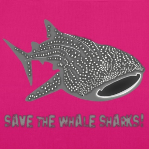 walhai wal hai fisch whale shark taucher tauchen diver diving naturschutz endangered species save the whale sharks Taschen - Bio-Stoffbeutel