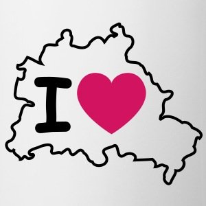 I love Berlin (Karte) 3 Flessen & bekers - Mok