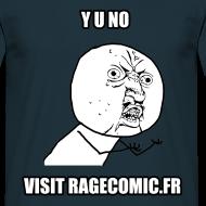 Motif ~ T Shirt Y U NO visit RAGECOMIC.FR bleu rage comics