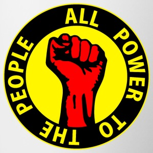 Digital - all power to the people - against capitalism working class war revolution Mugs  - Mug
