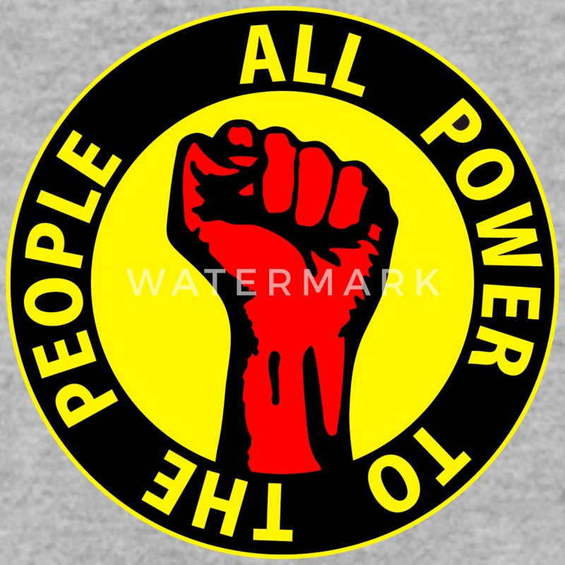 Digital - all power to the people - against capitalism working class war revolution Sweat-shirts - Sweat-shirt Homme