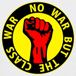 Digital - no war but the class war - against capitalism working class war revolution T-shirts - Kortärmad basebolltröja herr