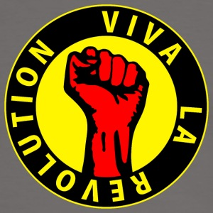 Digital - Viva la Revolution - Working Class Unity Against Capitalism T-shirts - Kontrast-T-shirt herr
