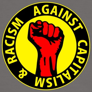 Digital - against capitalism & racism - against capitalism working class war revolution Camisetas - Camiseta contraste hombre