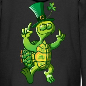 Saint Patrick's Day Turtle Kids' Tops - Kids' Premium Zip Hoodie