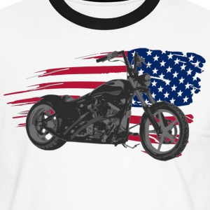 custom bike usa T-Shirts - Männer Kontrast-T-Shirt