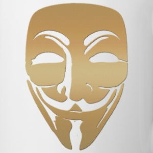 anonymous gold mask Tasses - Mug