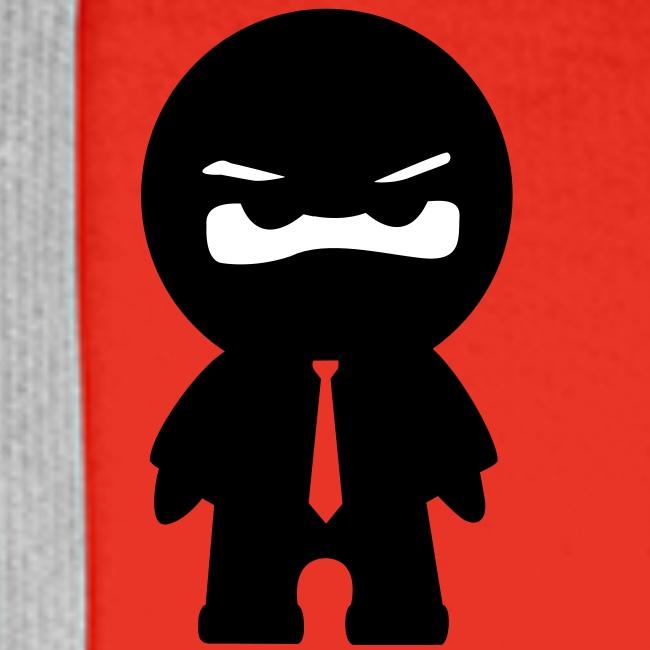 Ninja mit bunter Krawatte