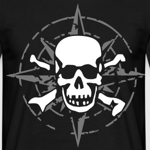 windrose_skull_02_a_2c Tee shirts - T-shirt Homme