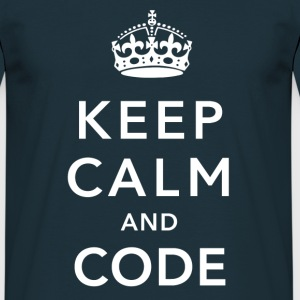 CALM DOWN AND CODE T-shirts - Herre-T-shirt